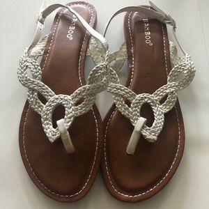 Bamboo Women's White Sandals -Size 8